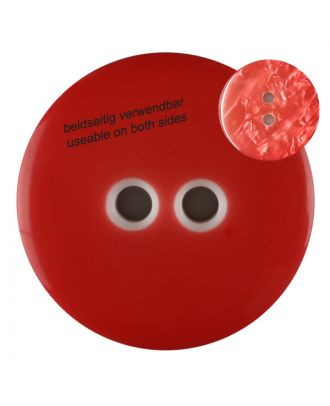 polyester  button with 2 holes - Size: 23mm - Color: red - Art.No. 342813