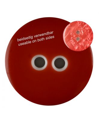 polyester  button with 2 holes - Size: 23mm - Color: red - Art.No. 342814