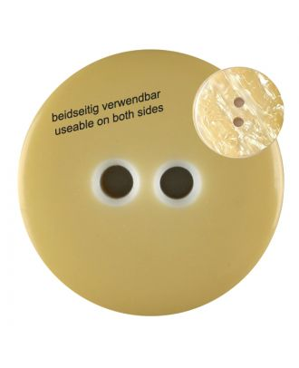 polyester  button with 2 holes - Size: 23mm - Color: yellow - Art.No. 342815