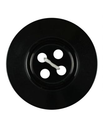 polyester button 4-hole pearlimitation shiny - Size: 23mm - Color: black - Art.No. 341271