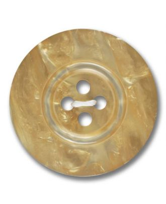 polyester button 4-hole pearlimitation shiny - Size: 28mm - Color: beige - Art.No. 383800