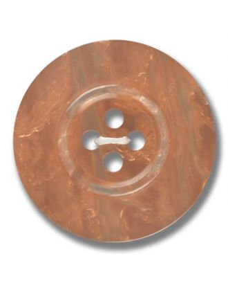 polyester button 4-hole pearlimitation shiny - Size: 28mm - Color: brown - Art.No. 383801