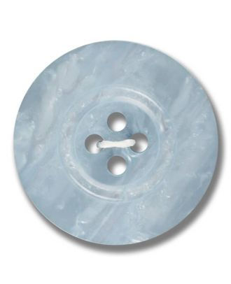 polyester button 4-hole pearlimitation shiny - Size: 23mm - Color: light blue - Art.No. 343802