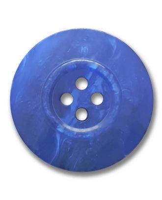 polyester button 4-hole pearlimitation shiny - Size: 23mm - Color: royal blue - Art.No. 343803