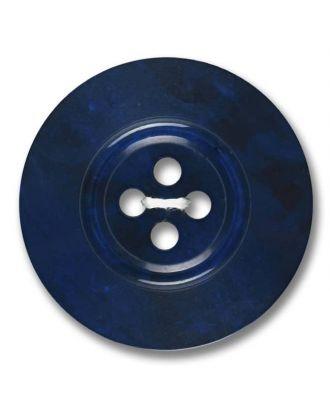 polyester button 4-hole pearlimitation shiny - Size: 23mm - Color: royal blue - Art.No. 343804