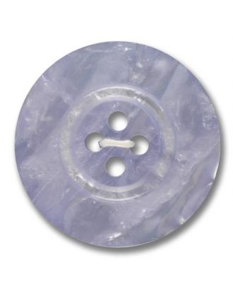 polyester button 4-hole pearlimitation shiny - Size: 23mm - Color: lilac - Art.No. 343806