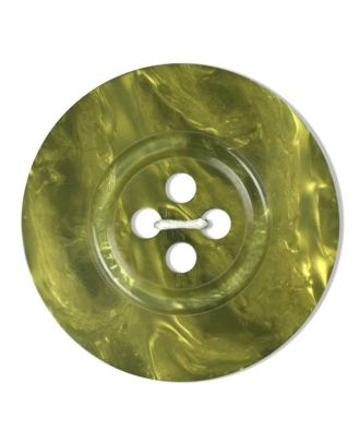polyester button 4-hole pearlimitation shiny - Size: 28mm - Color: green - Art.No. 383807