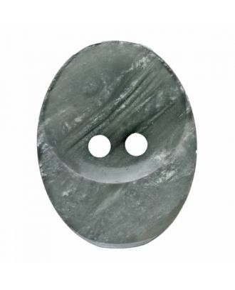 polyester button oval with two holes - Size: 20mm - Color: grey - Art.No. 335813