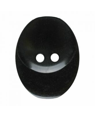 polyester button oval with two holes - Size: 30mm - Color: black - Art.No. 380397