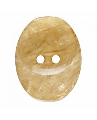 polyester button oval with two holes - Size: 30mm - Color: beige - Art.No. 385826