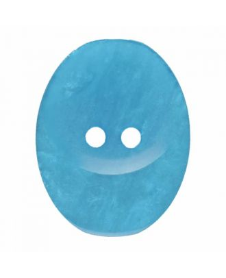 polyester button oval with two holes - Size: 25mm - Color: blue - Art.No. 375817