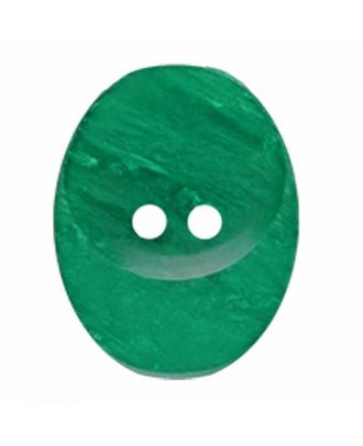 polyester button oval with two holes - Size: 30mm - Color: green - Art.No. 385833