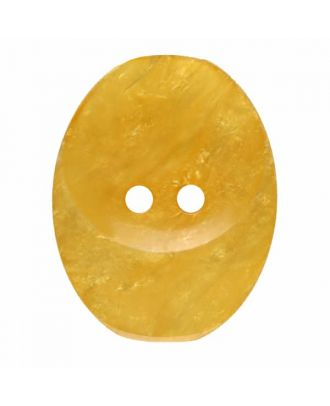 polyester button oval with two holes - Size: 25mm - Color: yellow - Art.No. 375824
