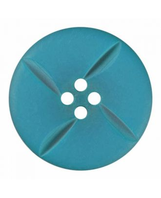 polyester button round with four holes - Size: 18mm - Color: blue - Art.No. 315816