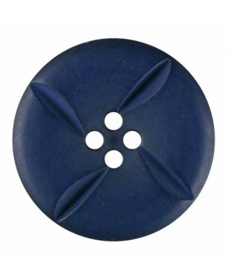 polyester button round with four holes - Size: 18mm - Color: blue - Art.No. 315817