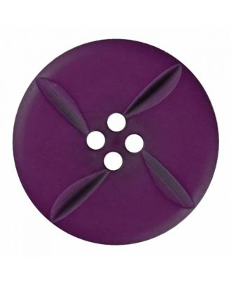 polyester button round with four holes - Size: 28mm - Color: purple - Art.No. 385818
