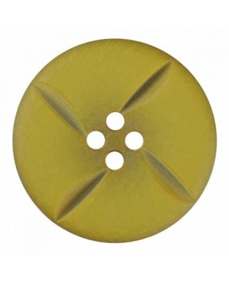 polyester button round with four holes - Size: 28mm - Color: green - Art.No. 385819