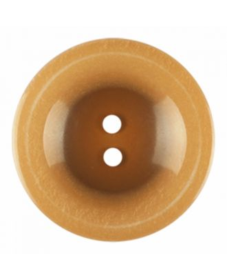 polyester button round shape with shiny surface and 2 holes - Size: 23mm - Color: brown - Art.-Nr.: 346837