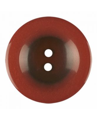 polyester button round shape with shiny surface and 2 holes - Size: 23mm - Color: brown - Art.-Nr.: 346838