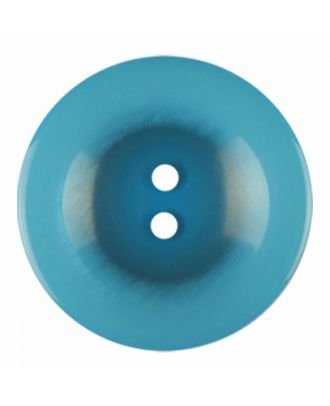 polyester button round shape with shiny surface and 2 holes - Size: 23mm - Color: blue - Art.-Nr.: 346839