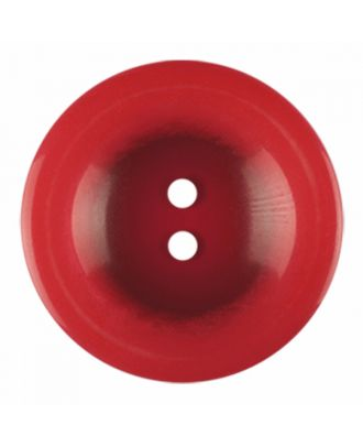 polyester button round shape with shiny surface and 2 holes - Size: 23mm - Color: red - Art.-Nr.: 346845