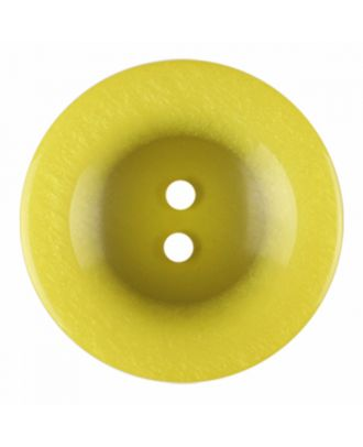 polyester button round shape with shiny surface and 2 holes - Size: 18mm - Color: yellow - Art.-Nr.: 316822