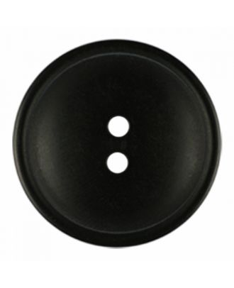 polyester button round shape with matt surface and structure 2 holes - Size: 20mm - Color: black - Art.-Nr.: 331232