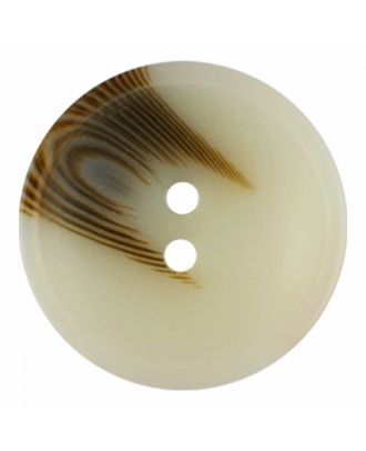 polyester button round shape with matt surface and structure 2 holes - Size: 20mm - Color: beige - Art.-Nr.: 336800