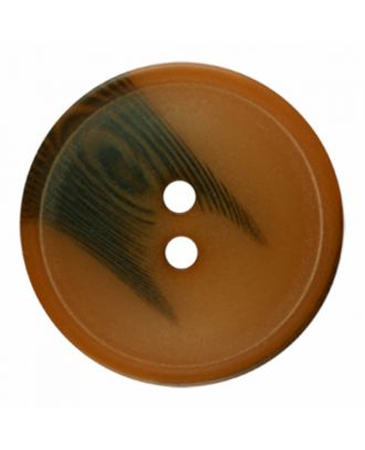 polyester button round shape with matt surface and structure 2 holes - Size: 20mm - Color: brown - Art.-Nr.: 336801