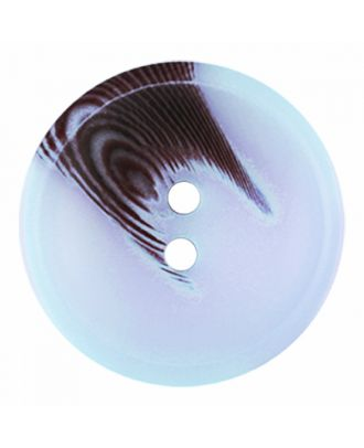 polyester button round shape with matt surface and structure 2 holes - Size: 30mm - Color: blue - Art.-Nr.: 386814