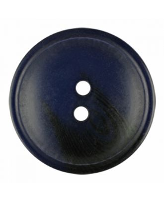 polyester button round shape with matt surface and structure 2 holes - Size: 30mm - Color: navy blue - Art.-Nr.: 386815