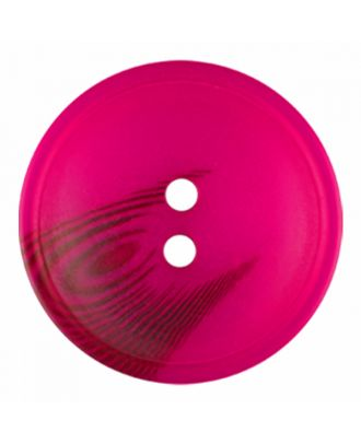 polyester button round shape with matt surface and structure 2 holes - Size: 30mm - Color: pink - Art.-Nr.: 386820