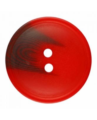 polyester button round shape with matt surface and structure 2 holes - Size: 25mm - Color: red - Art.-Nr.: 376821