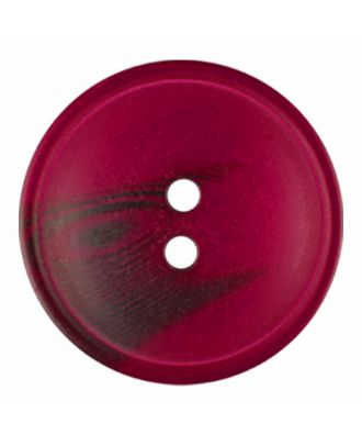polyester button round shape with matt surface and structure 2 holes - Size: 30mm - Color: wine red - Art.-Nr.: 386822