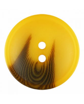 polyester button round shape with matt surface and structure 2 holes - Size: 25mm - Color: yellow - Art.-Nr.: 376823