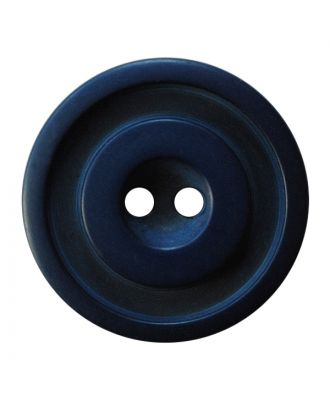 polyester button round shape with matt, two-tone surface and 2 holes - Size: 25mm - Color: dunkelblau - Art.No.: 377805