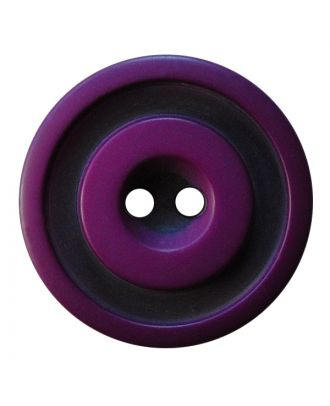 polyester button round shape with matt, two-tone surface and 2 holes - Size: 30mm - Color: lila - Art.No.: 387830
