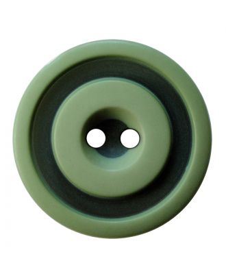 polyester button round shape with matt, two-tone surface and 2 holes - Size: 25mm - Color: hellgrün - Art.No.: 377807