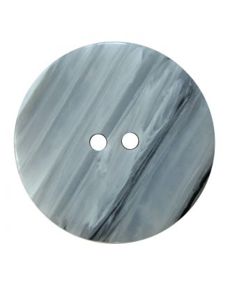 polyester button round shape with shiny surface, structure and 2 holes - Size: 28mm - Color: weiß - Art.No.: 380421