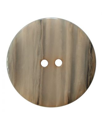 polyester button round shape with shiny surface, structure and 2 holes - Size: 28mm - Color: beige - Art.No.: 387836