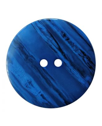polyester button round shape with shiny surface, structure and 2 holes - Size: 28mm - Color: blau - Art.No.: 387839