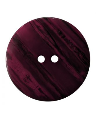 polyester button round shape with shiny surface, structure and 2 holes - Size: 23mm - Color: lila - Art.No.: 347829