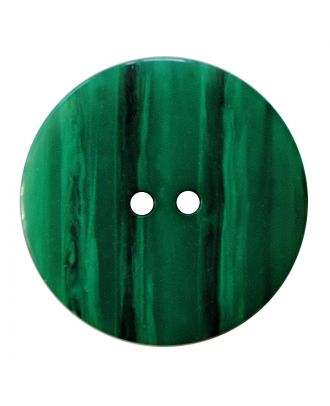 polyester button round shape with shiny surface, structure and 2 holes - Size: 28mm - Color: grün - Art.No.: 387842