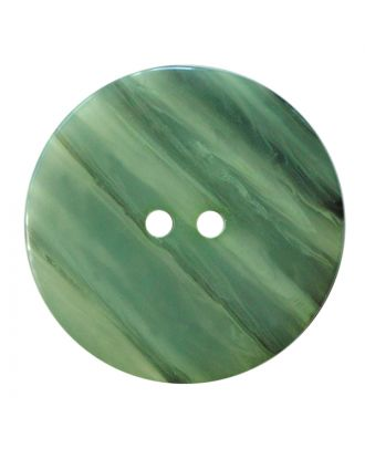 polyester button round shape with shiny surface, structure and 2 holes - Size: 23mm - Color: hellgrün - Art.No.: 347831