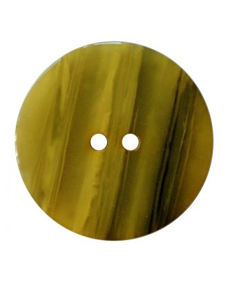 polyester button round shape with shiny surface, structure and 2 holes - Size: 23mm - Color: senfgrün - Art.No.: 347832