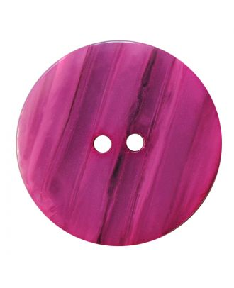 polyester button round shape with shiny surface, structure and 2 holes - Size: 28mm - Color: pink - Art.No.: 387845