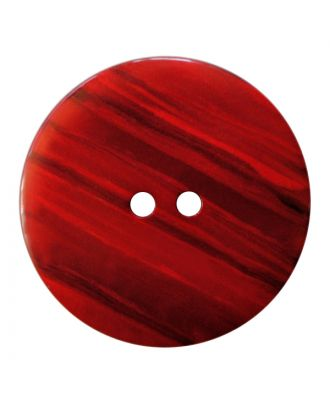 polyester button round shape with shiny surface, structure and 2 holes - Size: 28mm - Color: rot - Art.No.: 387846