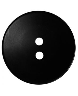 polyester button round shape with matt surface, structure and 2 holes - Size: 18mm - Color: schwarz - Art.No.: 311115