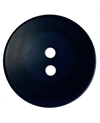 polyester button round shape with matt surface, structure and 2 holes - Size: 18mm - Color: dunkelblau - Art.No.: 318813