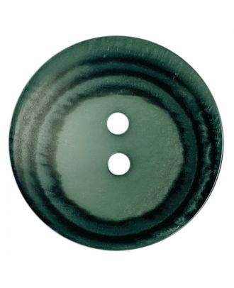 polyester button round shape with matt surface, structure and 2 holes - Size: 18mm - Color: grün - Art.No.: 318815
